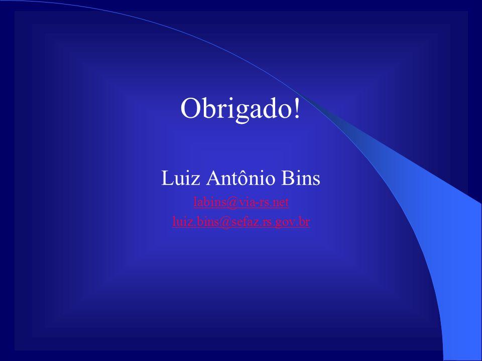 Obrigado! Luiz Antônio Bins labins@via-rs.net