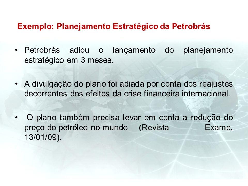 Exemplo: Planejamento Estratégico da Petrobrás