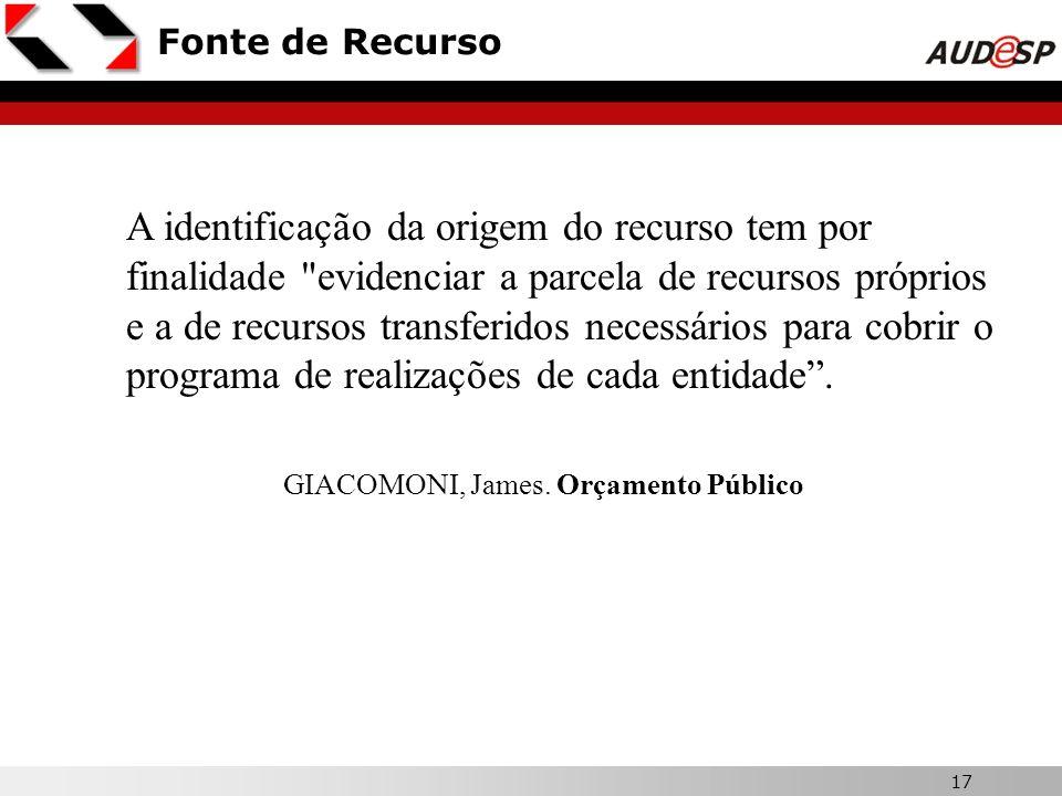 GIACOMONI, James. Orçamento Público