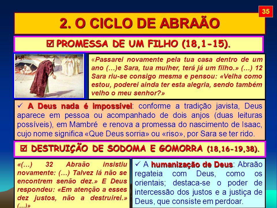  DESTRUIÇÃO DE SODOMA E GOMORRA (18,16-19,38).