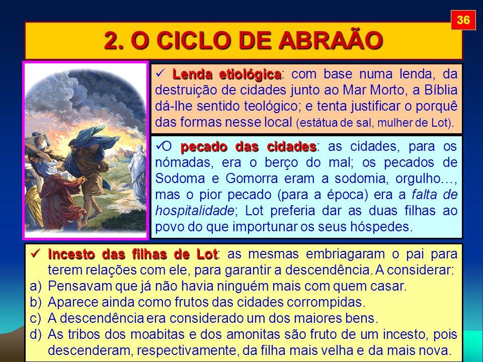 36 2. O CICLO DE ABRAÃO.
