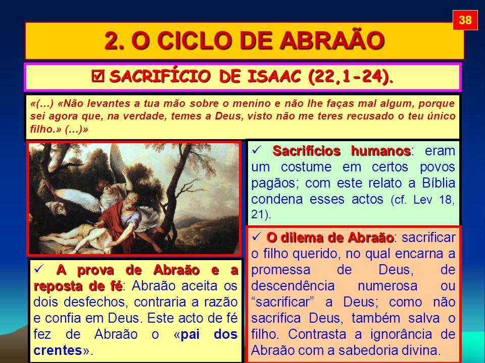  SACRIFÍCIO DE ISAAC (22,1-24).