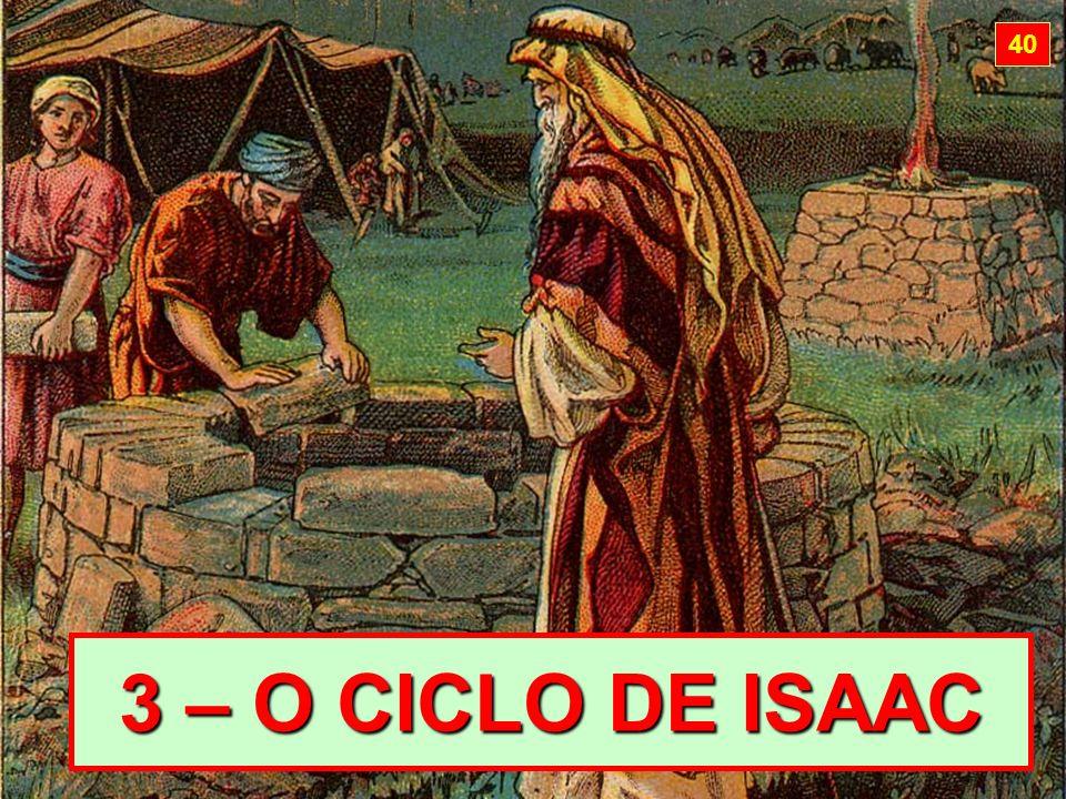 40 3 – O CICLO DE ISAAC