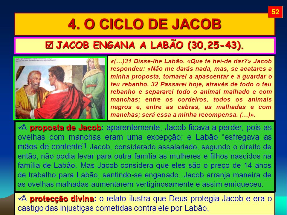  JACOB ENGANA A LABÃO (30,25-43).