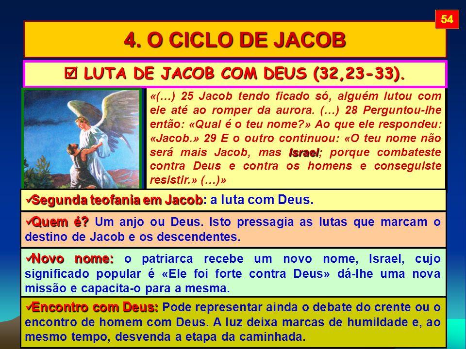  LUTA DE JACOB COM DEUS (32,23-33).