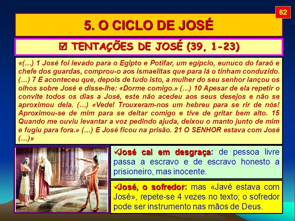 5. O CICLO DE JOSÉ  TENTAÇÕES DE JOSÉ (39, 1-23)