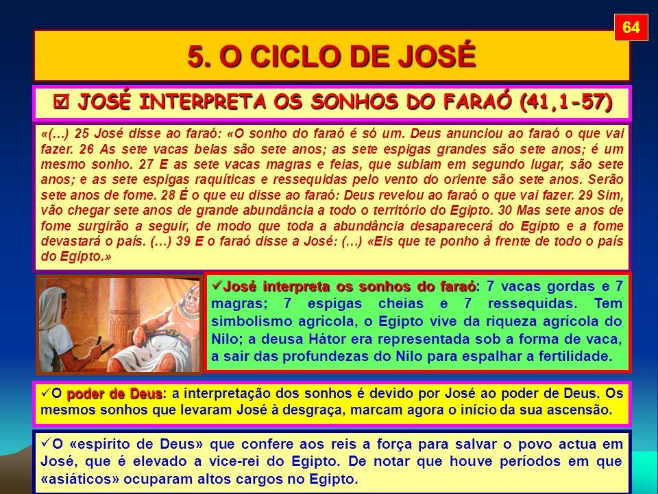  JOSÉ INTERPRETA OS SONHOS DO FARAÓ (41,1-57)
