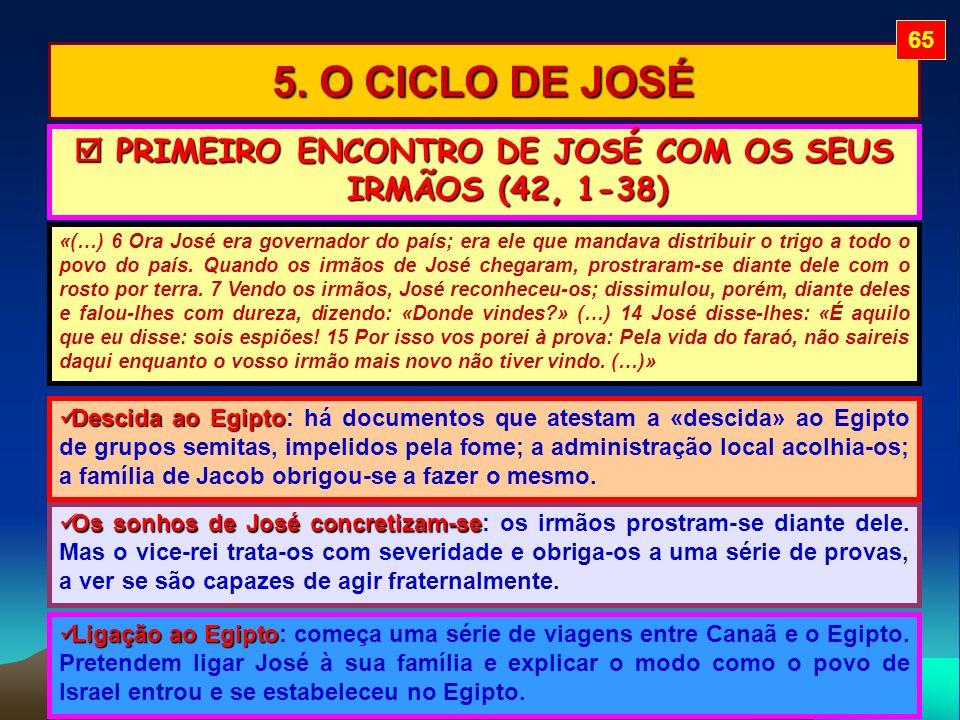  PRIMEIRO ENCONTRO DE JOSÉ COM OS SEUS IRMÃOS (42, 1-38)