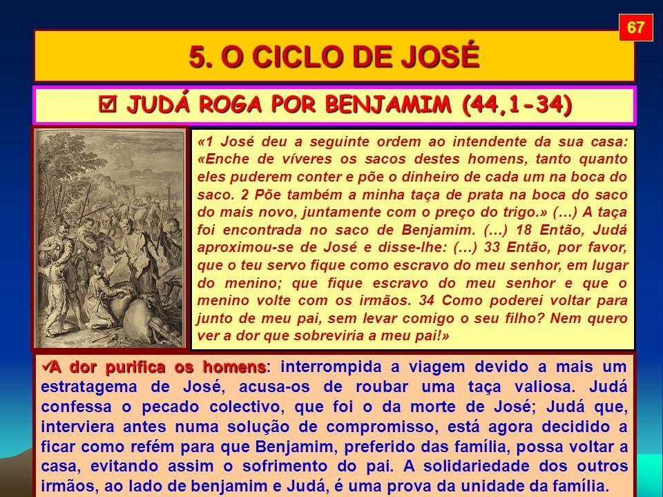  JUDÁ ROGA POR BENJAMIM (44,1-34)