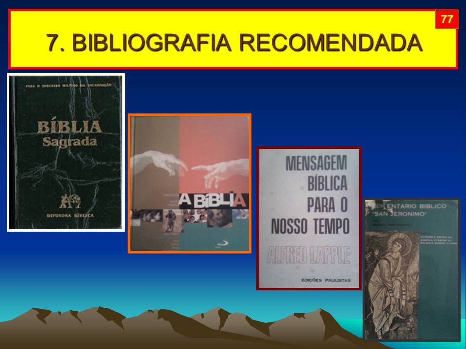 7. BIBLIOGRAFIA RECOMENDADA