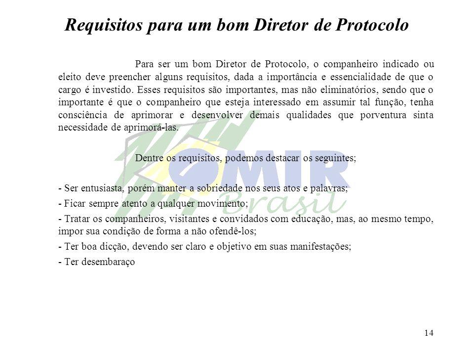 Requisitos para um bom Diretor de Protocolo
