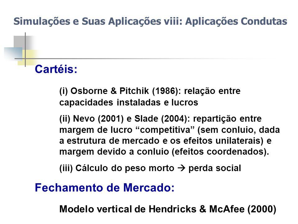 Fechamento de Mercado: Modelo vertical de Hendricks & McAfee (2000)