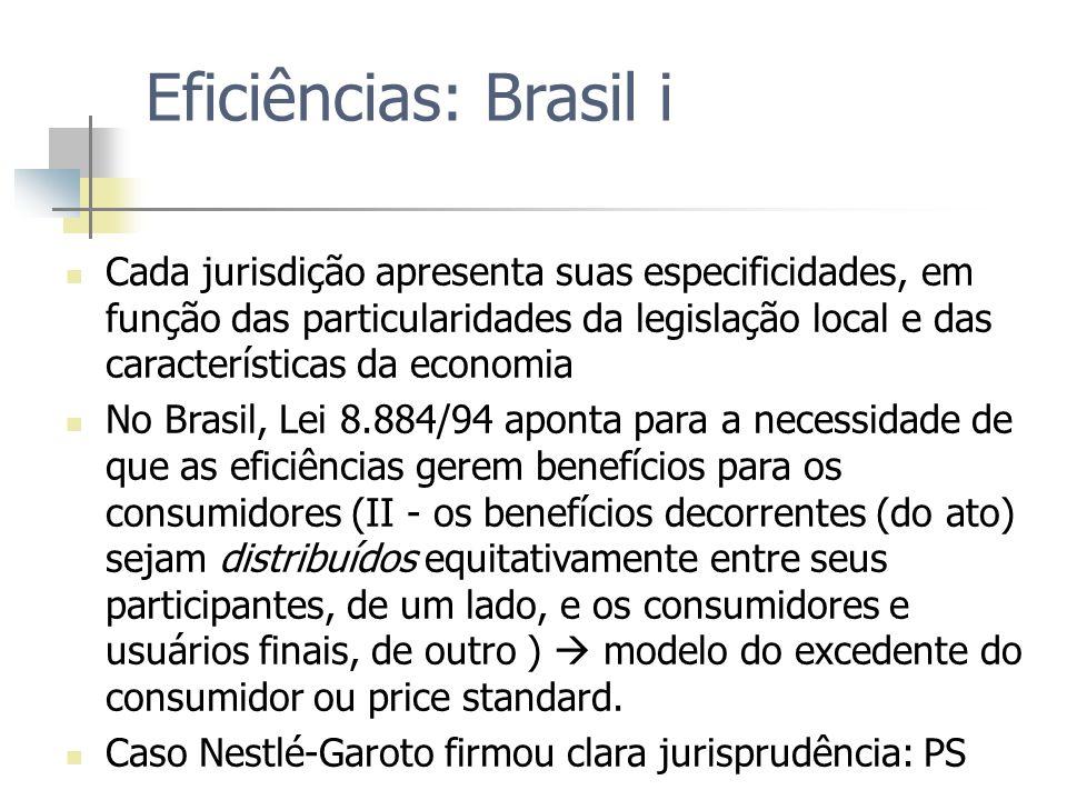 Eficiências: Brasil i