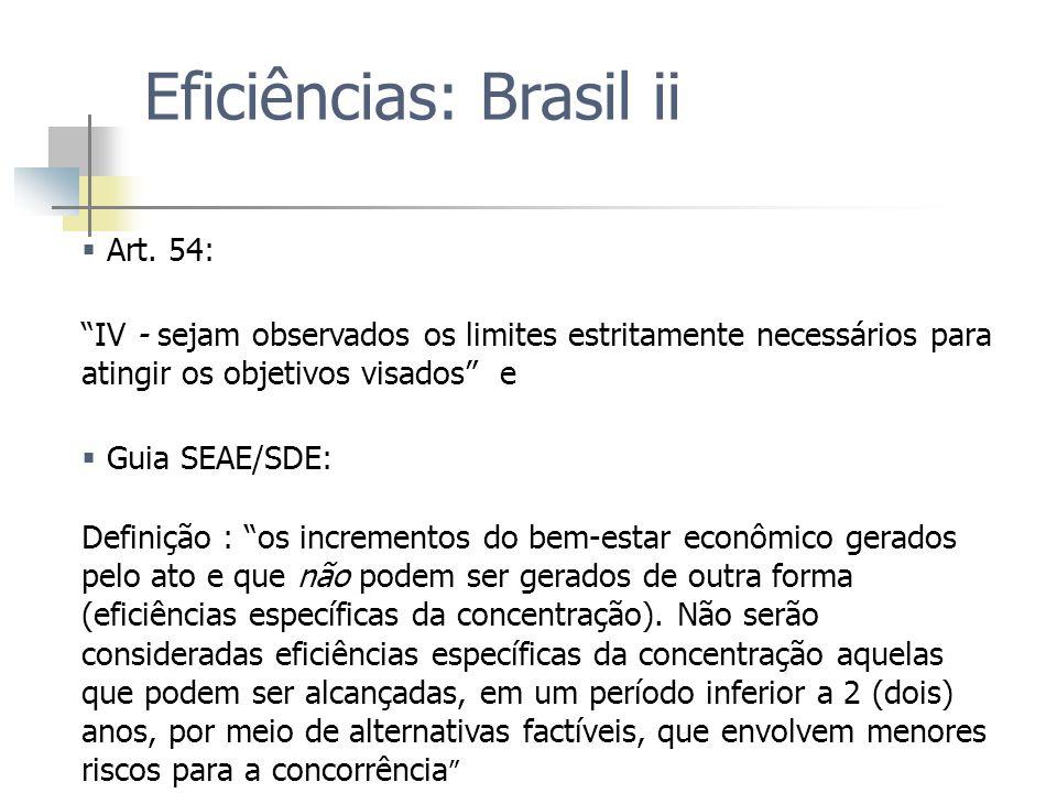 Eficiências: Brasil ii