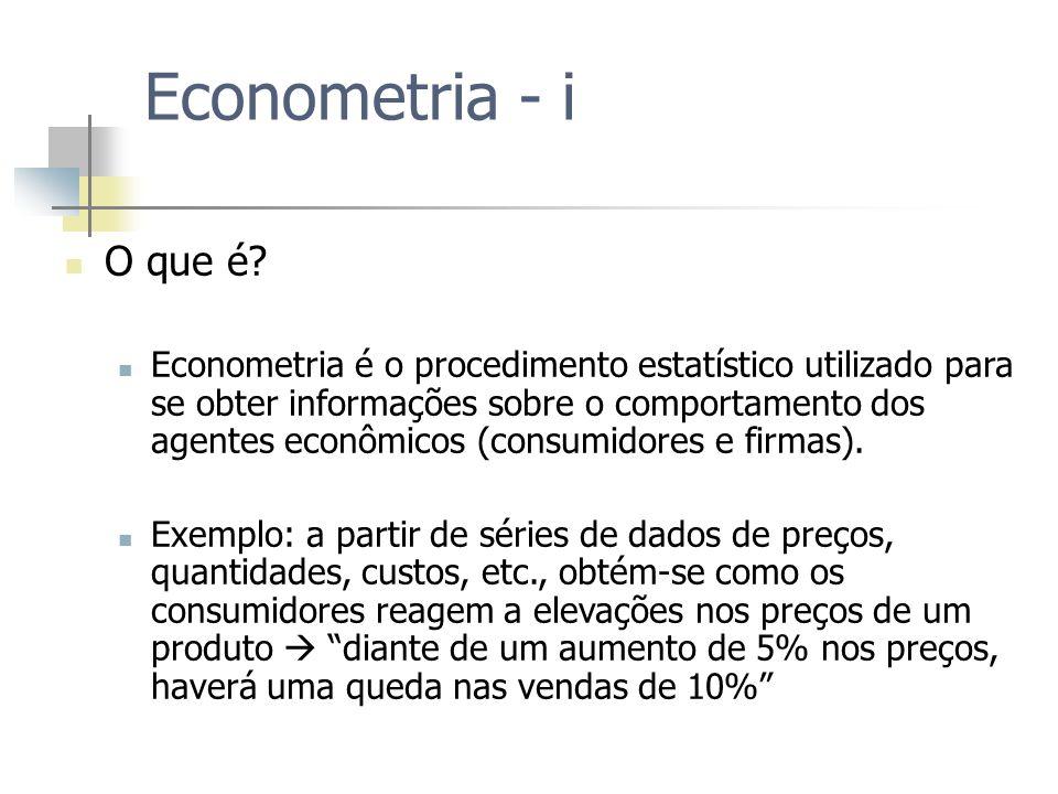 Econometria - i O que é