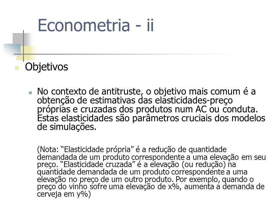Econometria - ii Objetivos