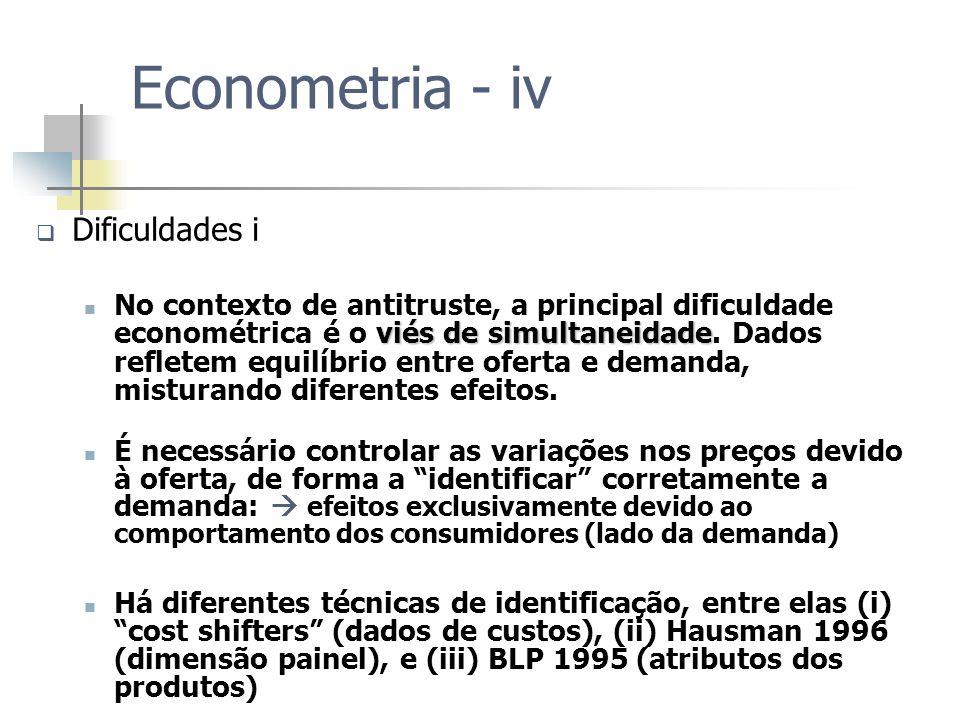 Econometria - iv Dificuldades i