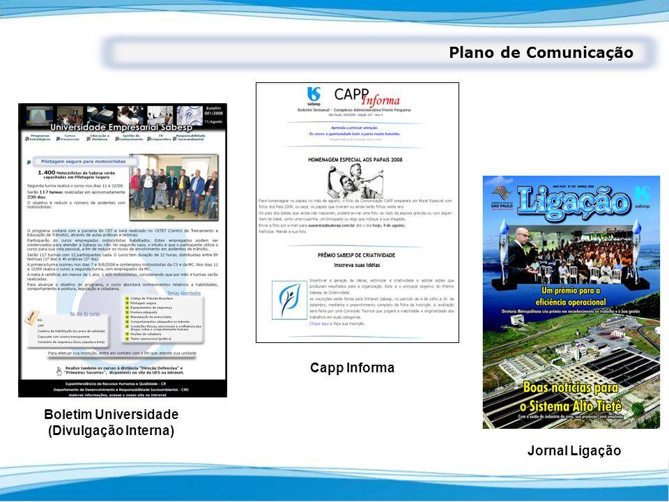Plano de Comunicação Capp Informa Boletim Universidade