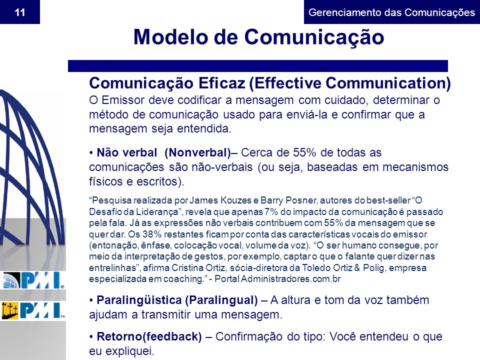 Modelo de Comunicação Comunicação Eficaz (Effective Communication)