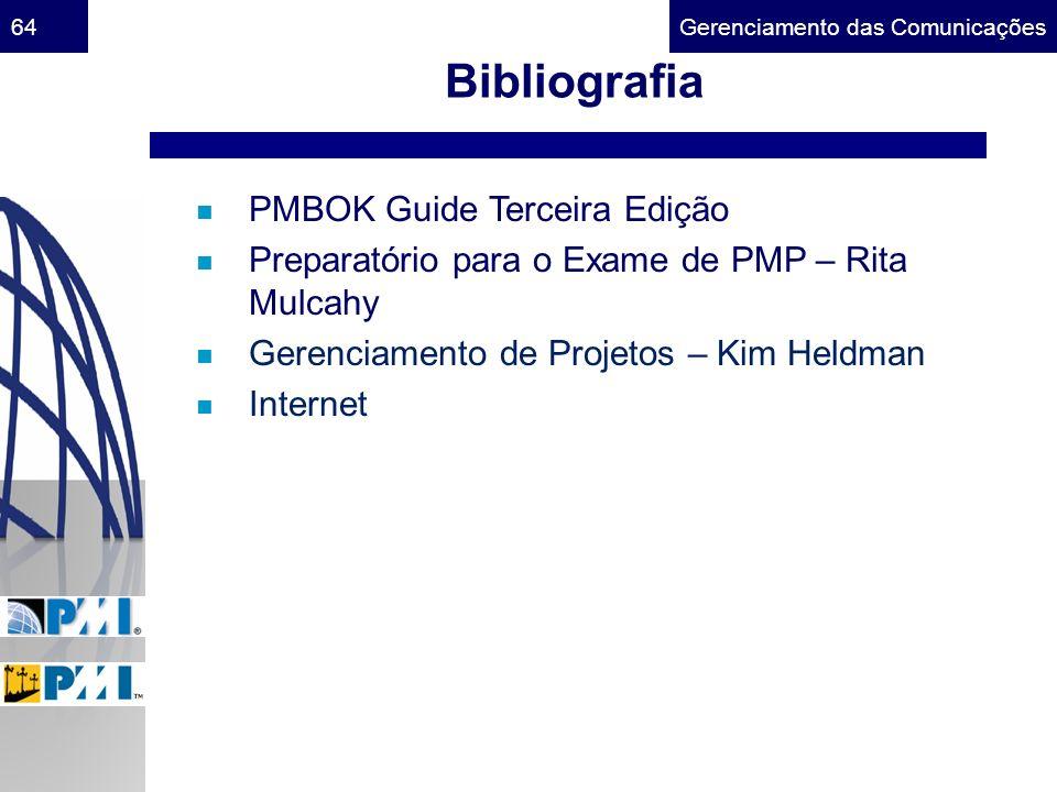 Bibliografia PMBOK Guide Terceira Edição