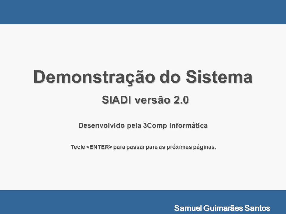 Demonstração do Sistema SIADI versão 2