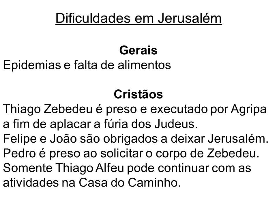 Dificuldades em Jerusalém