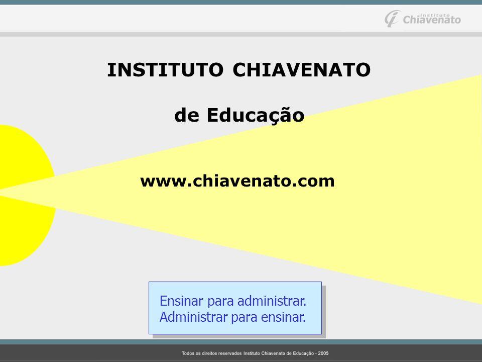 INSTITUTO CHIAVENATO de Educação www.chiavenato.com