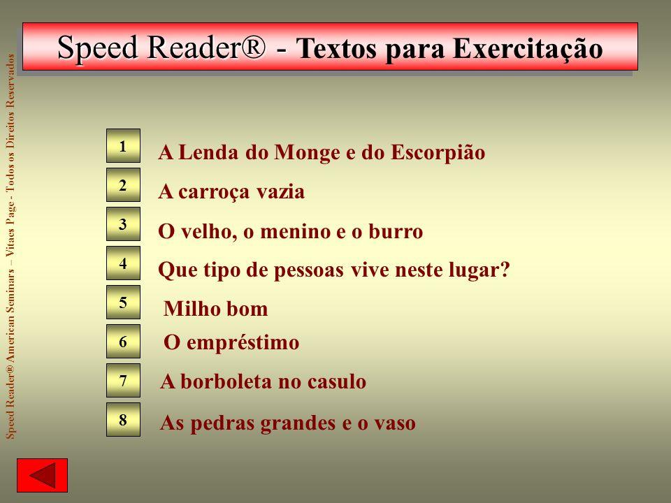 Speed Reader® - Textos para Exercitação