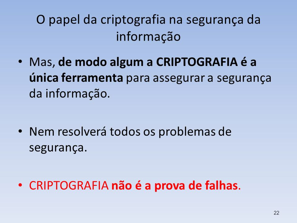 O papel da criptografia na segurança da informação