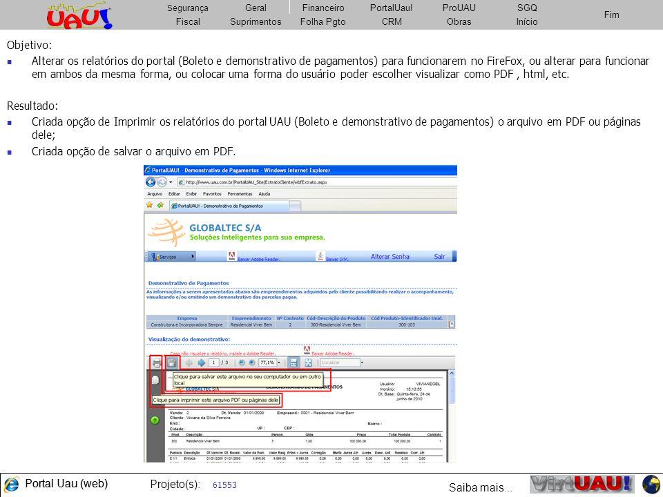 Criada opção de salvar o arquivo em PDF.