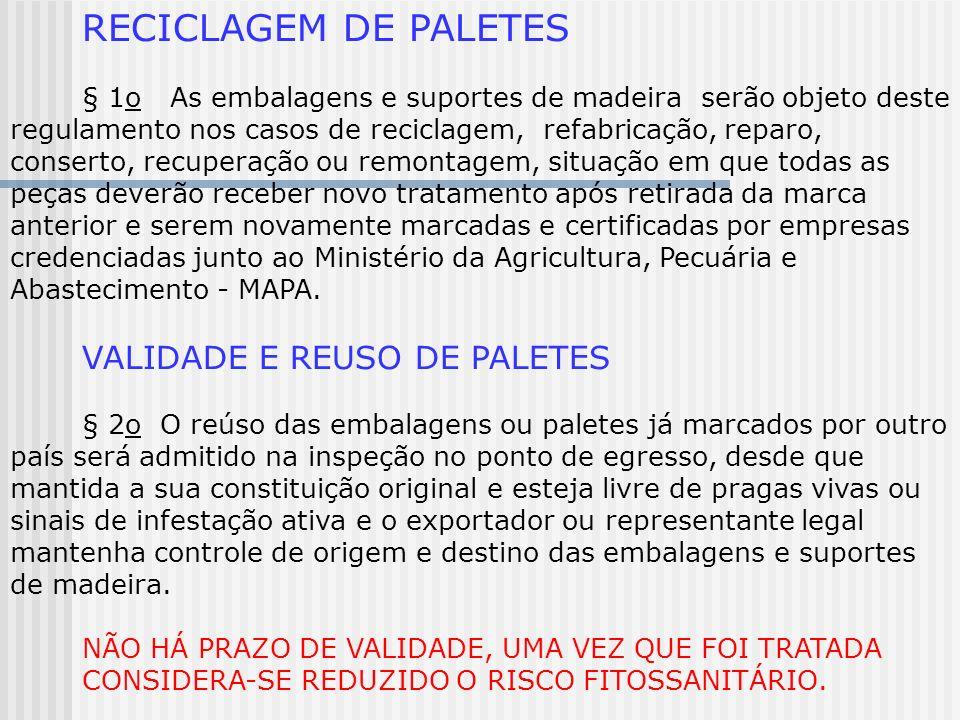 RECICLAGEM DE PALETES VALIDADE E REUSO DE PALETES