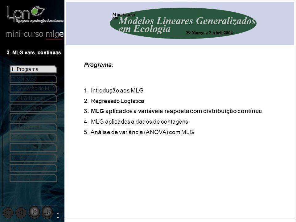 MLG aplicados a variáveis resposta com distribuição contínua