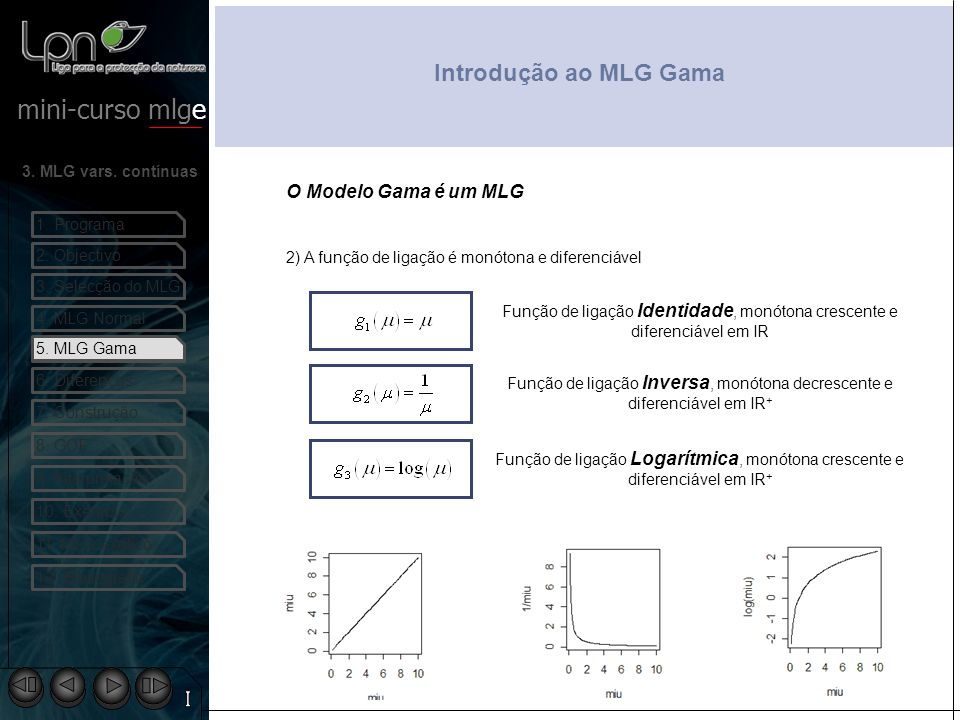 Introdução ao MLG Gama O Modelo Gama é um MLG