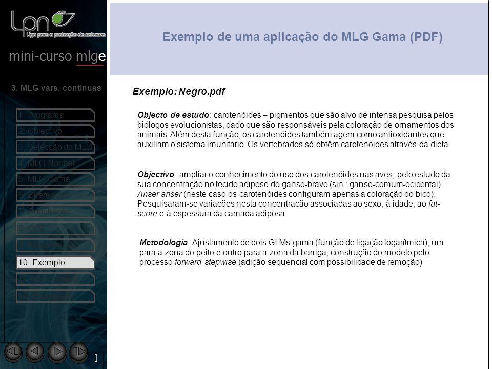 Exemplo de uma aplicação do MLG Gama (PDF)