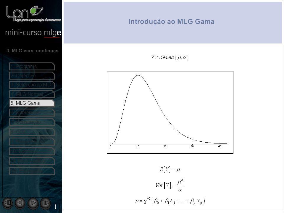 Introdução ao MLG Gama 5. MLG Gama I