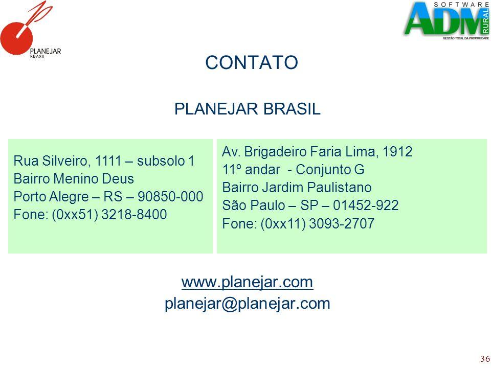 CONTATO PLANEJAR BRASIL www.planejar.com planejar@planejar.com
