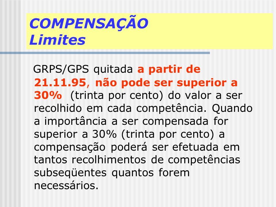 COMPENSAÇÃO Limites
