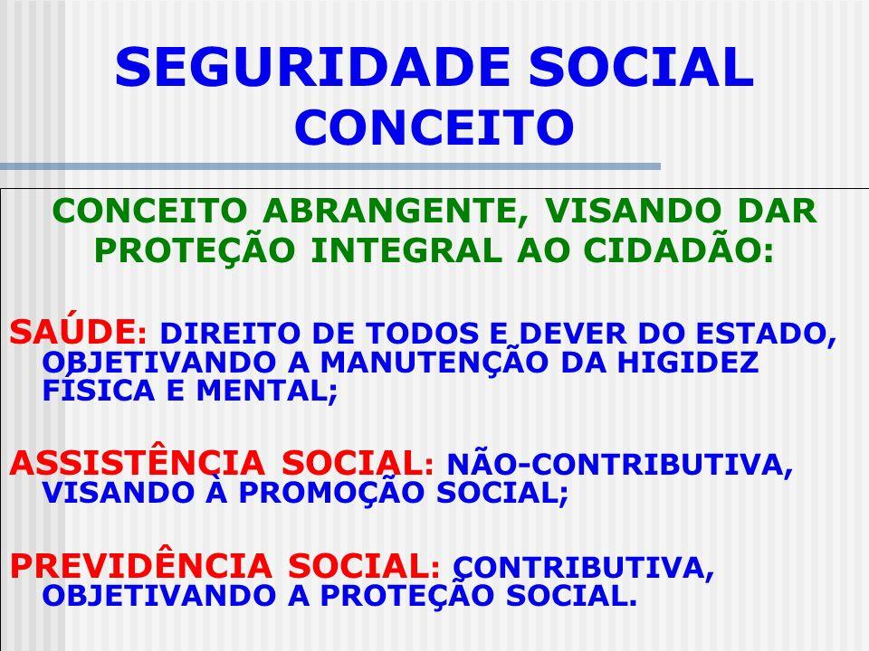 SEGURIDADE SOCIAL CONCEITO