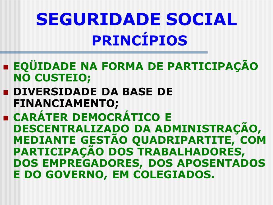 SEGURIDADE SOCIAL PRINCÍPIOS