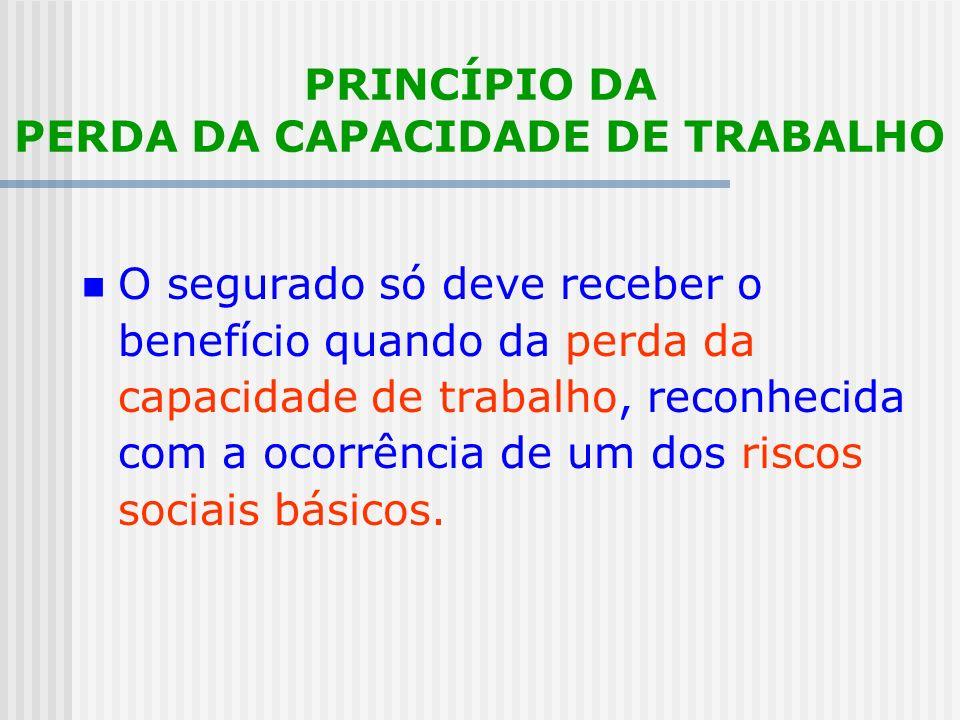 PRINCÍPIO DA PERDA DA CAPACIDADE DE TRABALHO
