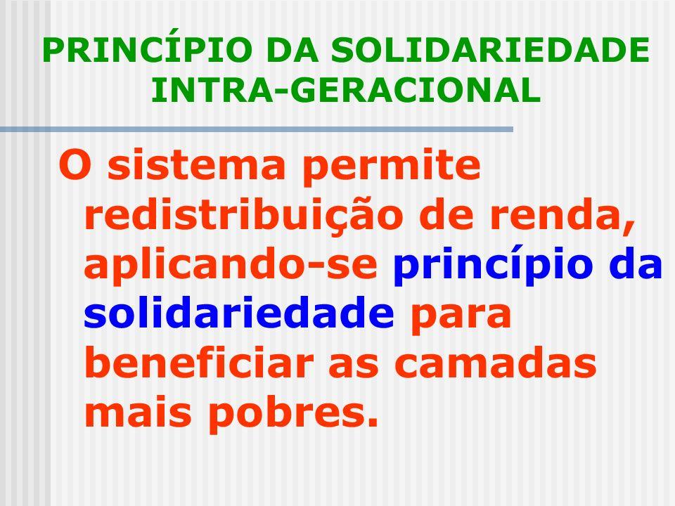 PRINCÍPIO DA SOLIDARIEDADE INTRA-GERACIONAL