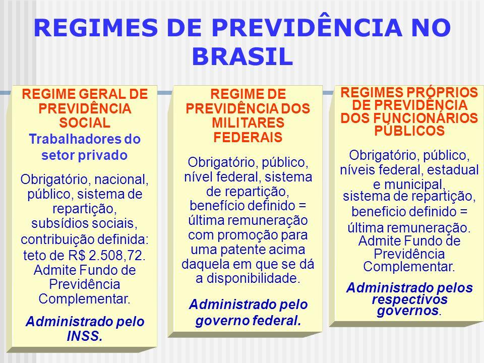 REGIMES DE PREVIDÊNCIA NO BRASIL