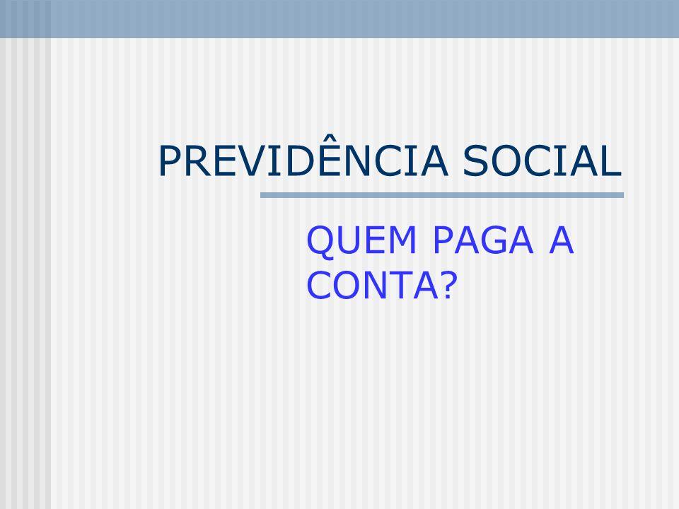 PREVIDÊNCIA SOCIAL QUEM PAGA A CONTA