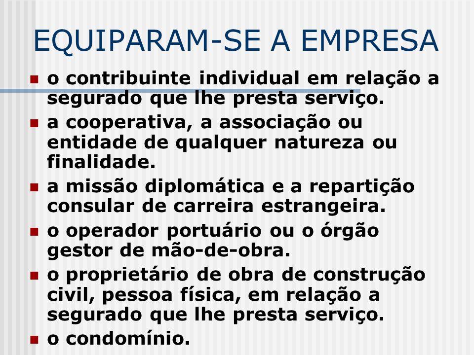 EQUIPARAM-SE A EMPRESA