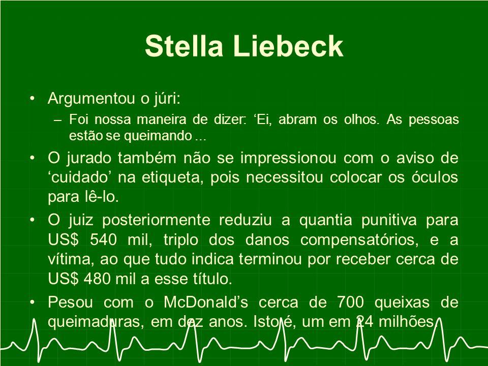 Stella Liebeck Argumentou o júri: