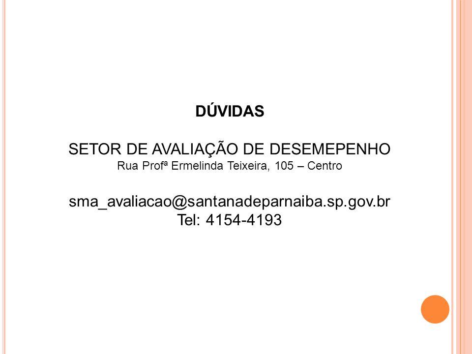 SETOR DE AVALIAÇÃO DE DESEMEPENHO