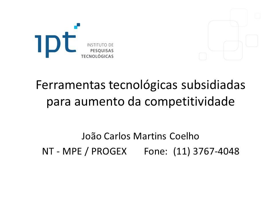 Ferramentas tecnológicas subsidiadas para aumento da competitividade