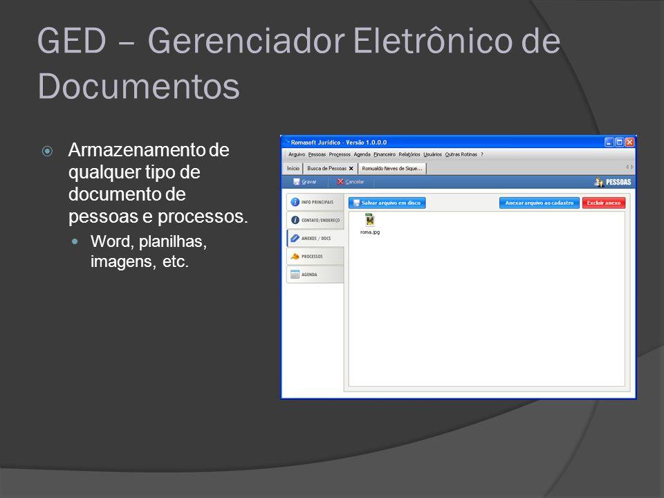 GED – Gerenciador Eletrônico de Documentos