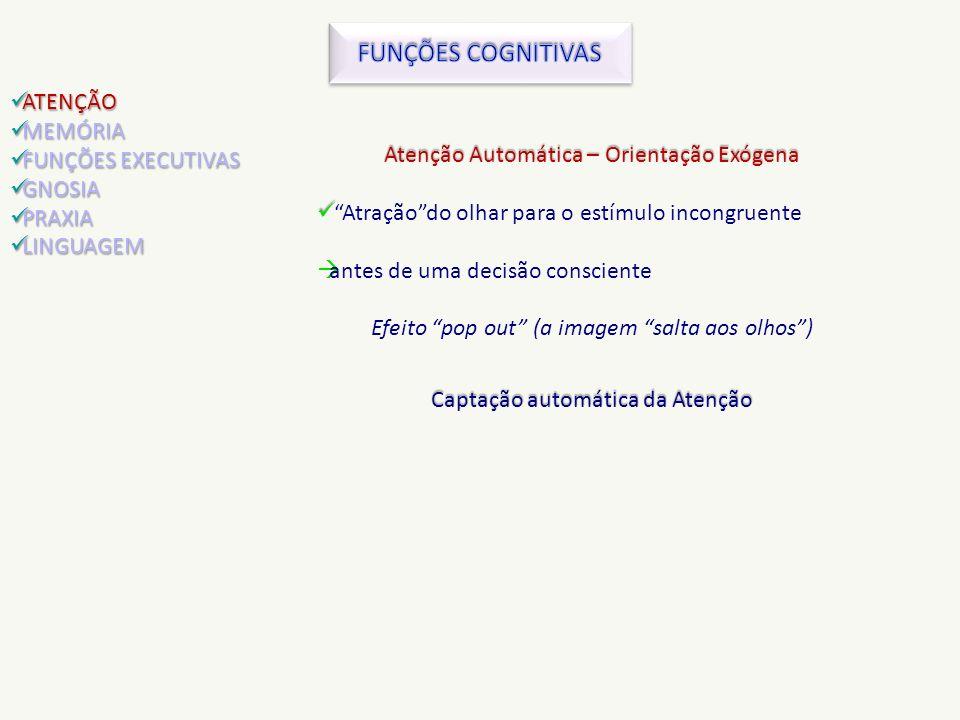 FUNÇÕES COGNITIVAS ATENÇÃO MEMÓRIA FUNÇÕES EXECUTIVAS GNOSIA