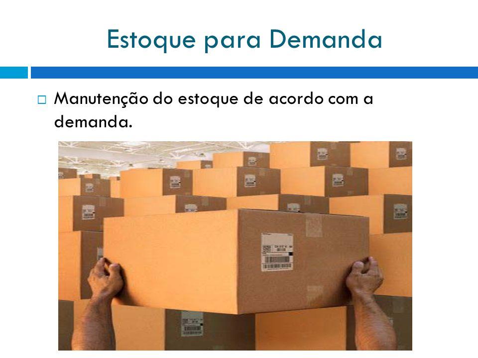 Estoque para Demanda Manutenção do estoque de acordo com a demanda.